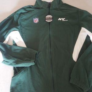 Fleece Jets jacket Size med. Nwt Reebok